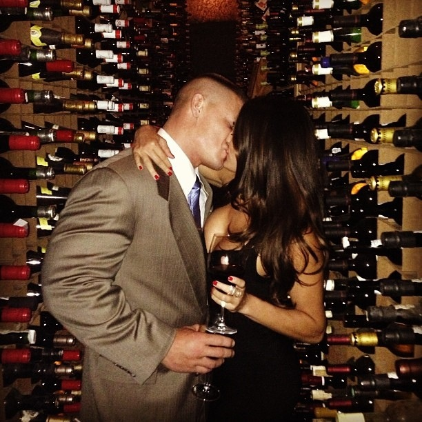 Photo Wwe Couple John Cena And Nikki Bella Celebrate Their First Anniversary